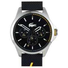 Lacoste Men's Capbreton Black Silicone Watch 2010978