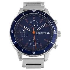 Lacoste Men's Key West Navy Blue Dial Stainless Steel Watch 2010995