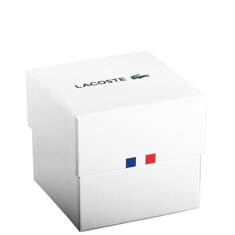 Lacoste Men's Legacy Black Dial Black Leather Watch 2010982 For Sale 2