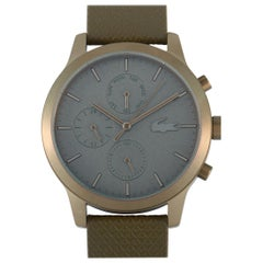 Lacoste Original 12.12 Stainless Steel Chronograph Khaki Leather Watch 2010999