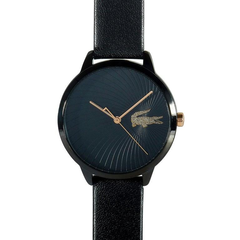Lacoste Women's Lexi Black Leather Watch 2001069 For Sale 1