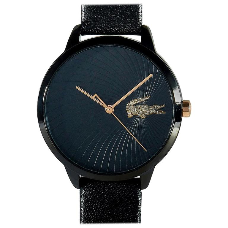 Lacoste Women's Lexi Black Leather Watch 2001069 For Sale