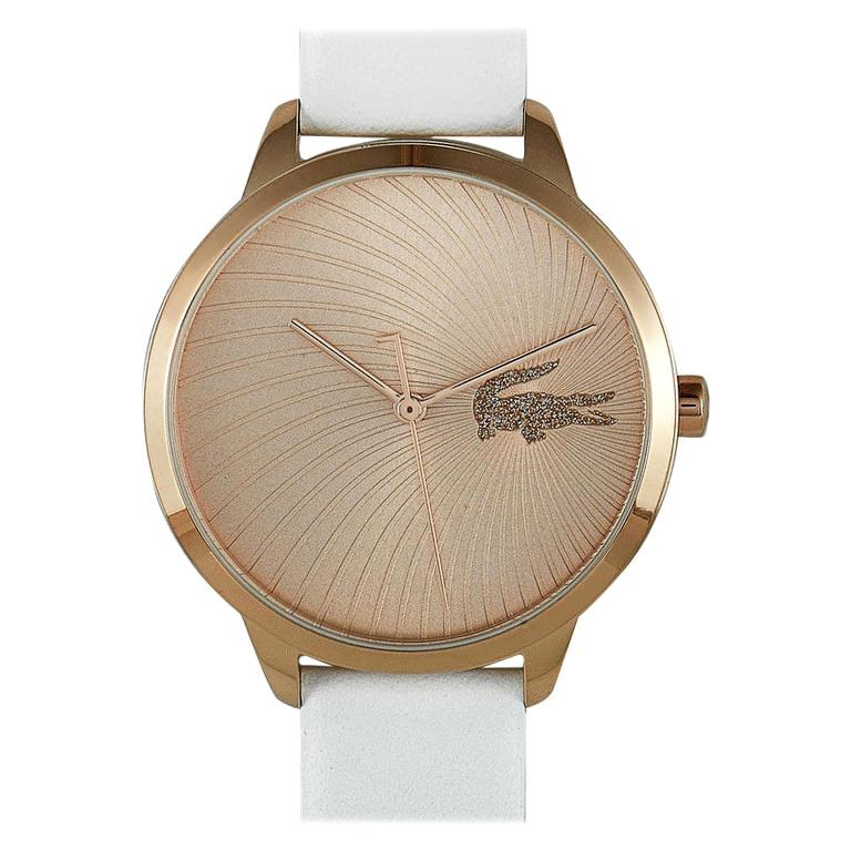 Lacoste Women's Lexi White Leather Watch 2001068 For Sale
