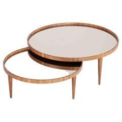 Lacquer Bronze Mirror Goyard Coffee Table Set