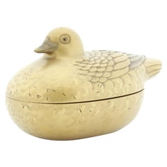 Lacquer Incense Box, Duck, Animal, Lacquerware, Container, 19th Century, Japan