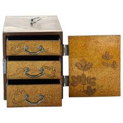 Lacquer Kodansu, Cabinet, Lacquerware, Late 19th Century, Mount Fuji, Japan