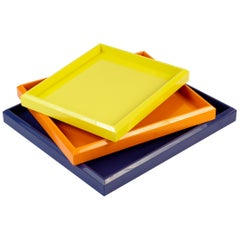 Lacquer Nesting Trays Customized Different Colors