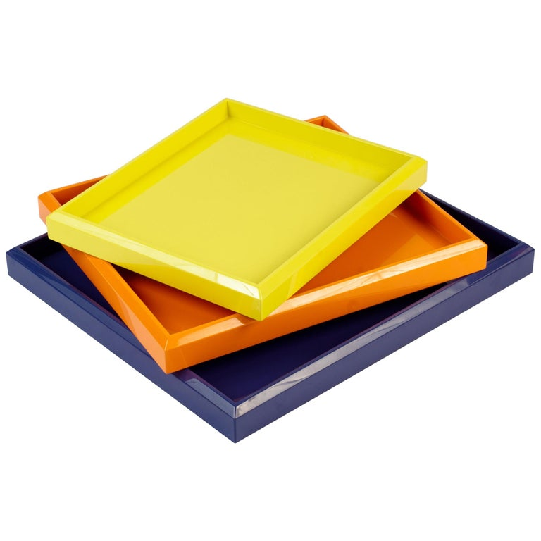 Lacquer Nesting Trays Customized Different Colors For Sale