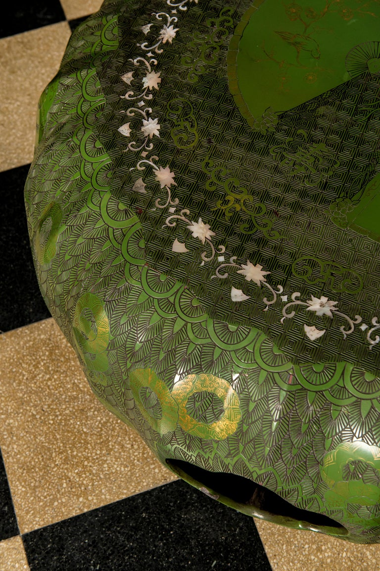Japanese Lacquer Table, Art Deco Period, Japan, circa 1900 For Sale