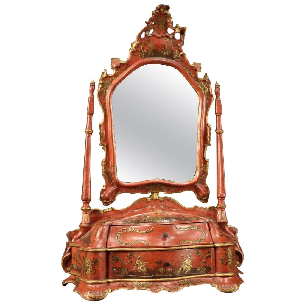 Lacquered and Gilded Venetian Dressing Table, 20th Century