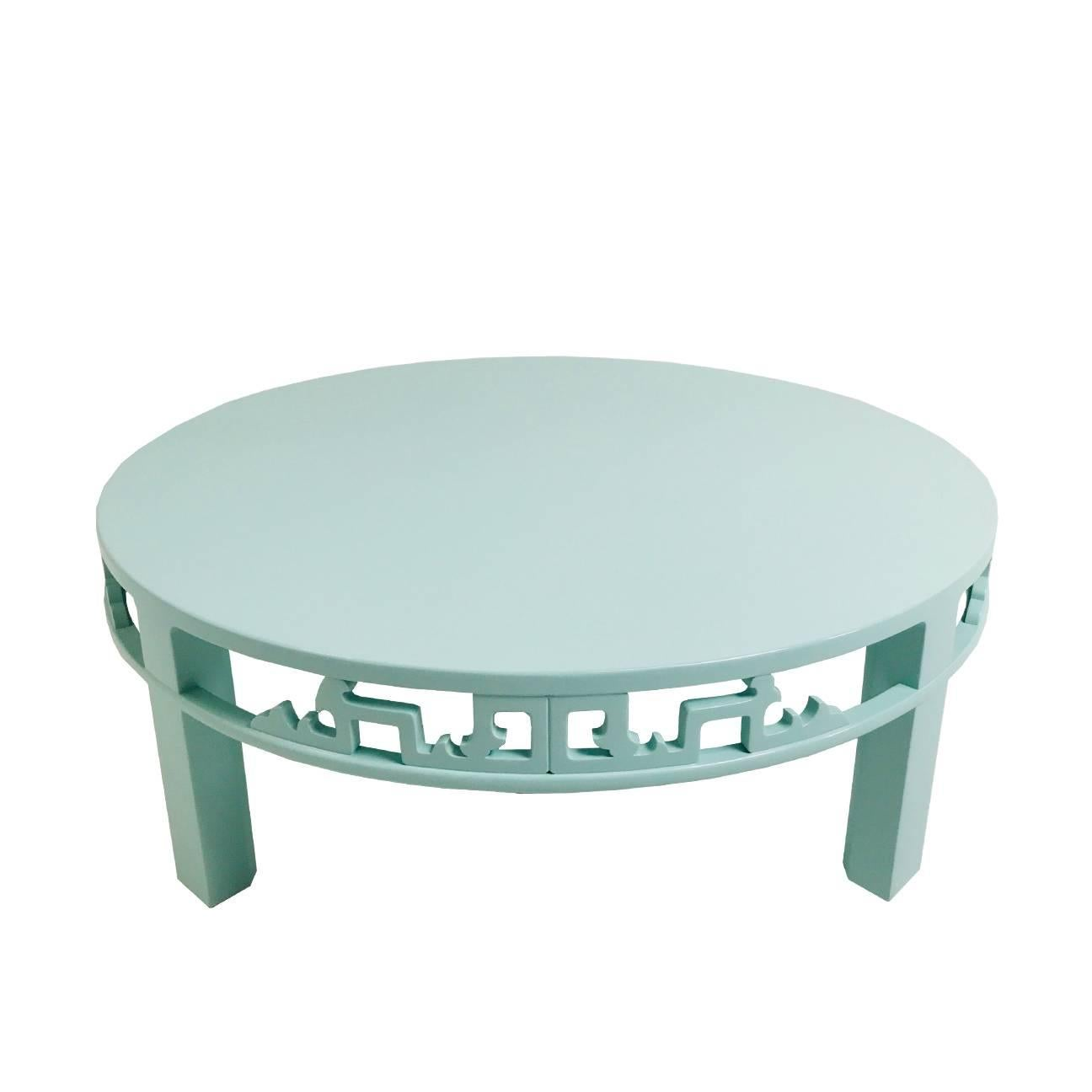 Lacquered Asian Style Coffee Table By Baker For Sale