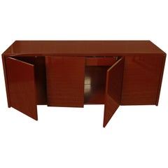 Lacquered Aubergine Modern Cabinet, circa 1970
