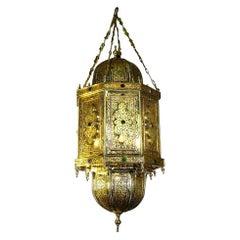 """Lacquered Bronze """"Sultan Lantern"""""""