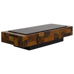 Lacquered Copper Patchwork Coffee Table, 1970s