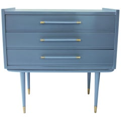 Lacquered Grey Commode