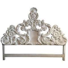 Lacquered Hollywood Regency King Headboard
