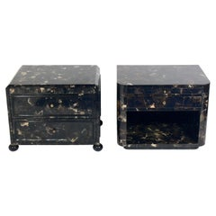 Lacquered Horn Nightstand or End Table