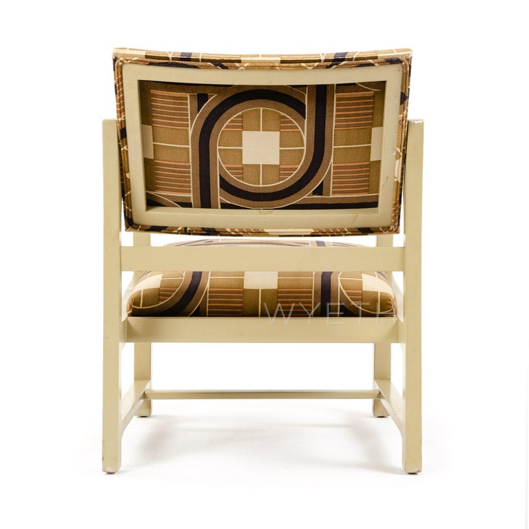 Lacquered Mahogany Lounge Chair by Edward Wormley for Dunbar In Good Condition For Sale In Sagaponack, NY