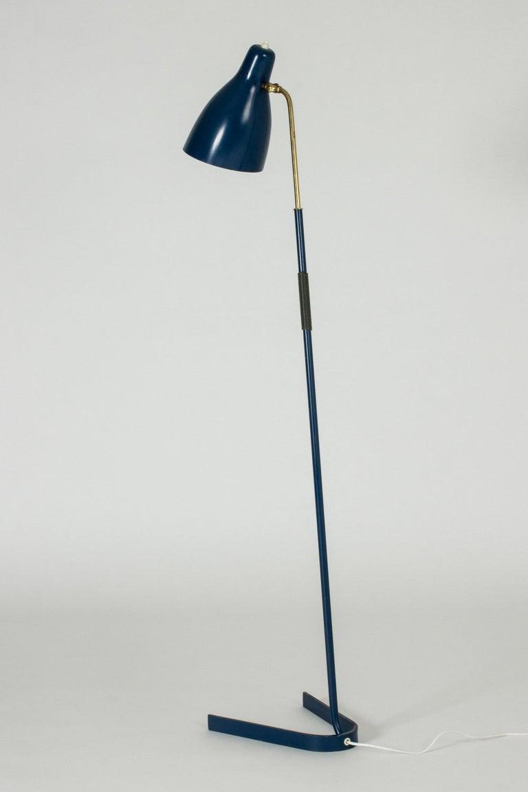 Scandinavian Modern Lacquered Metal Floor Lamp from Boréns