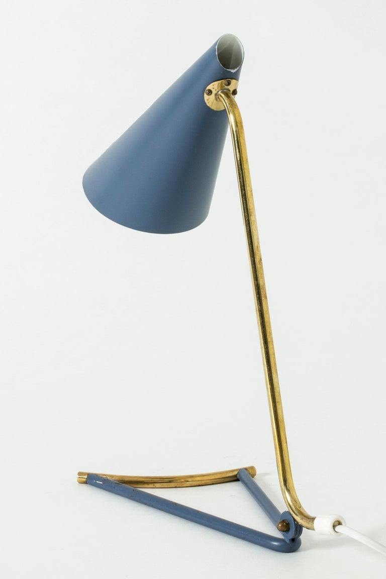 Lacquered Metal Table Lamp by Knud Joos for Lyfa, Denmark, 1950s In Good Condition For Sale In Stockholm, SE