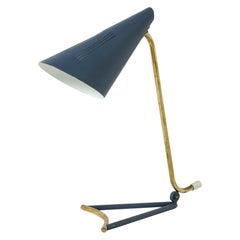 Lacquered Metal Table Lamp by Knud Joos for Lyfa, Denmark, 1950s