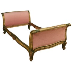 Lacquered and Painted Venetian Bed, 20th Century