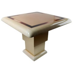 Lacquered Parchment Game or Center Table