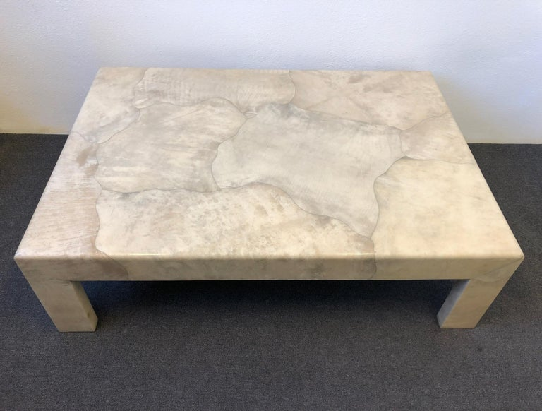 Lacquered Parchment Goatskin Cocktail Table by J. Robert Scott For Sale 1