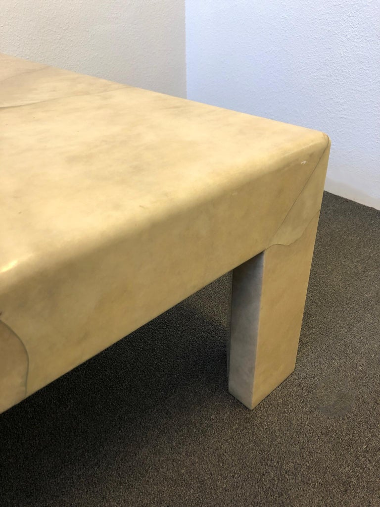 Lacquered Parchment Goatskin Cocktail Table by J. Robert Scott For Sale 2