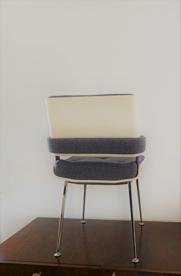 Lacquered Plywood and Chrome Chair by Alain Richard, France, 1960s For Sale 1