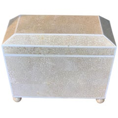 Lacquered Shell and Bone Tapered Sarcophagus Box, by Maitland- Smith
