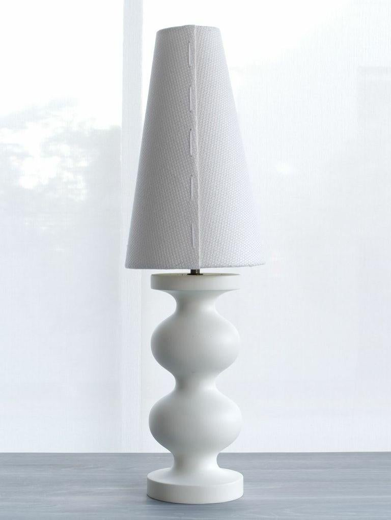 Lacquered Soft Black Organic Modern Table Lamp, Double Frank by Wende Reid In New Condition For Sale In Paddington, NSW