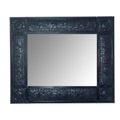 Lacquered Vintage Victorian Wall Mirror