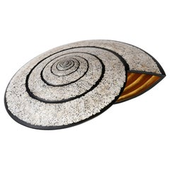 Lacquered Wood and Gold Shell Sculpture, Snail