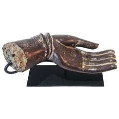 Lacquered Wood Buddha Hand, Early 20th Century