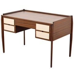 Lacquered Wood Desk Attributed to Gio Ponti, Italy, 1960