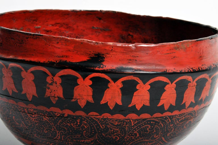 Rattan Lacquerware Bowl For Sale