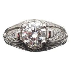 Lacy 14 Karat White Gold Diamonds Ring
