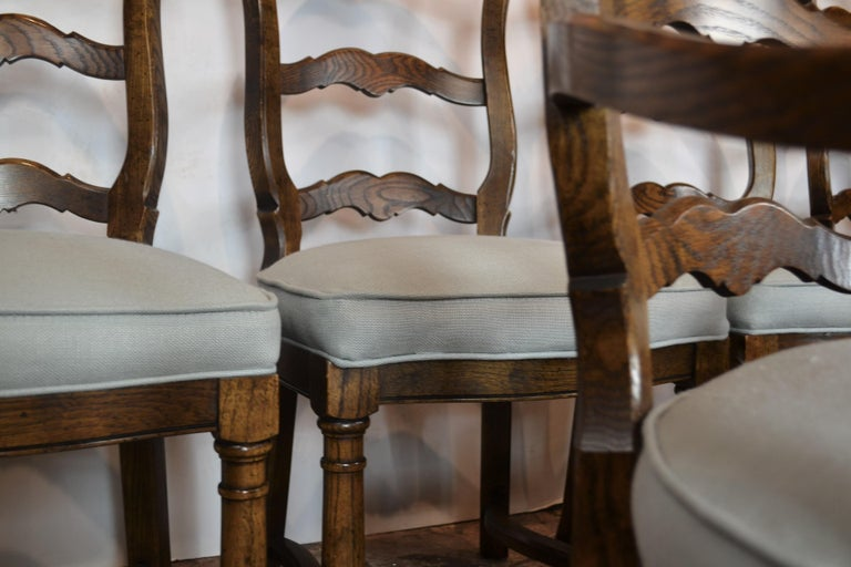 Ladder Back Dining Chairs In Good Condition For Sale In Pasadena, CA