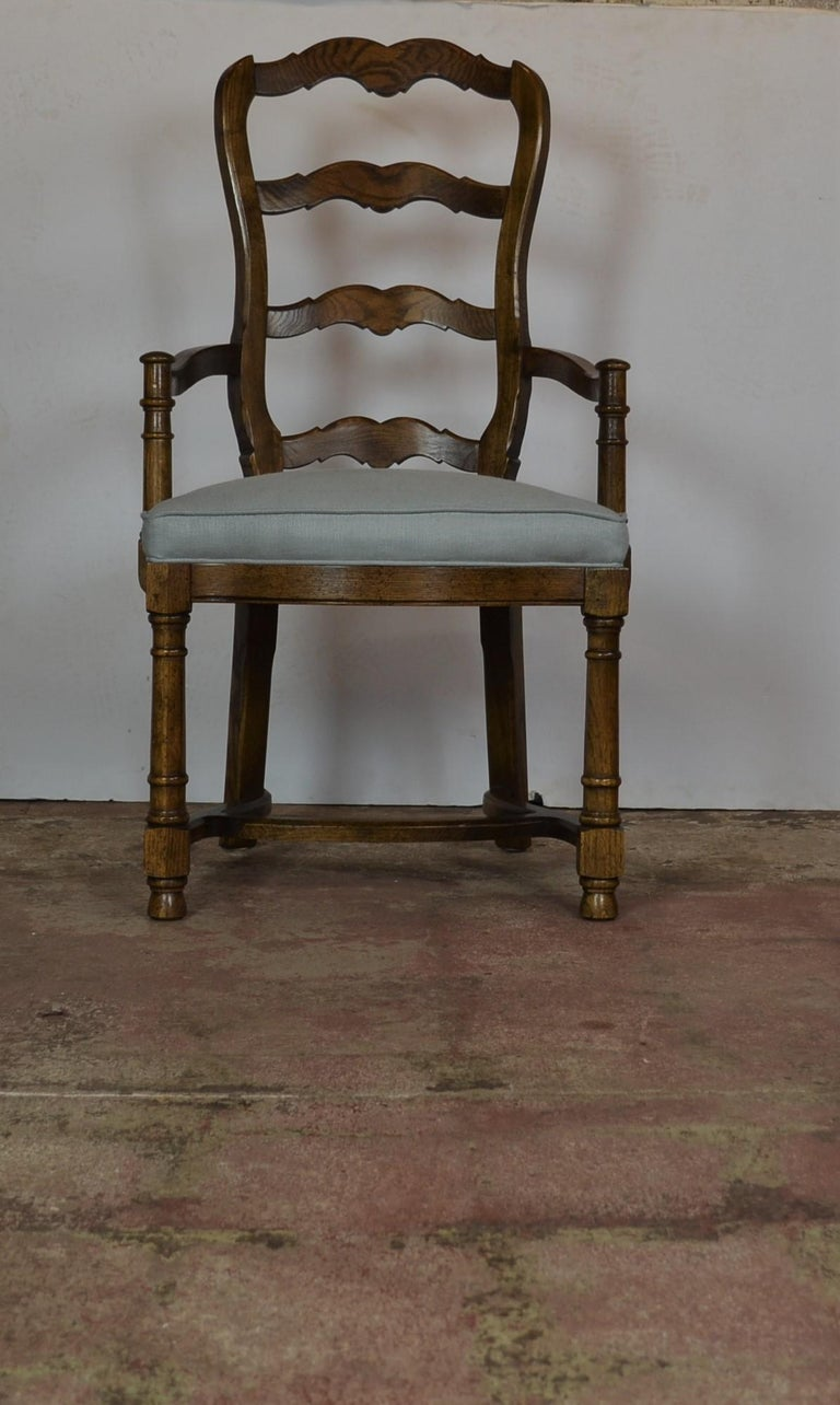 Late 20th Century Ladder Back Dining Chairs For Sale