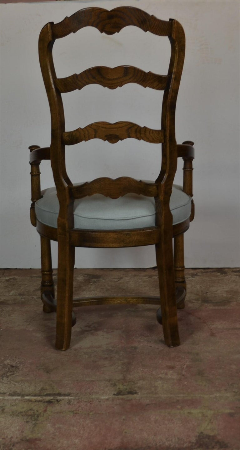 Wood Ladder Back Dining Chairs For Sale