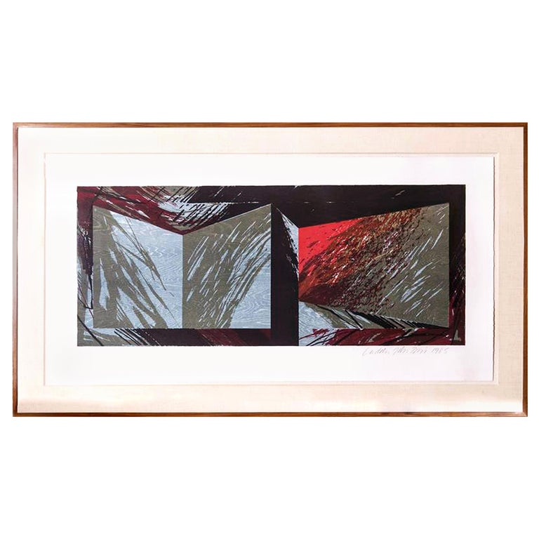 Laddie John Dill Large Lithograph and Woodcut on Wove Paper, 1985 For Sale