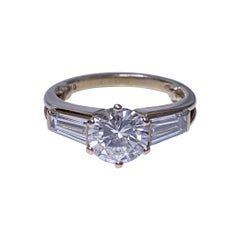 Ladies 18k Diamond Ring, 20th Century