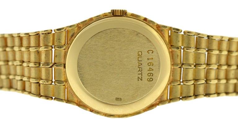Modern Ladies Audemars Piguet Royal Oak 18 Karat Yellow Gold Diamond Quartz Watch For Sale