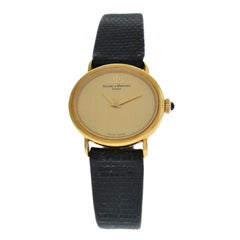 Ladies Baume & Mercier 38244 Solid 18 Karat Gold Mechanical Watch