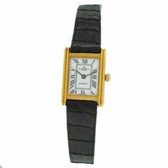 Ladies Baume & Mercier Lady 18505 18 Karat Solid Yellow Gold Quartz Watch