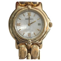 Ladies Bertolucci 18 Karat Yellow Gold Watch with Mother of Pearl Dial