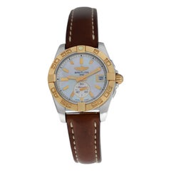 Ladies Breitling Galactic 36 C3733012 Automatic Mother of Pearl Dial Watch