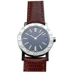 Ladies Bvlgari Diagono BB 30 SL Quartz Date Dress Watch, Swiss R1111BRN