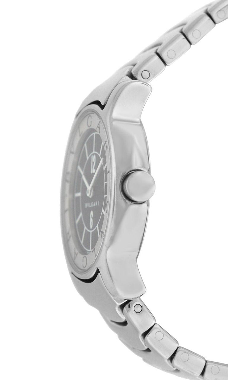 buy online d0f00 a99e6 Ladies Bvlgari Solotempo ST29S Stainless Steel Date Quartz Watch